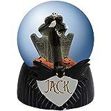 65mm Jack Skeleton The Pumpkin King Water Globe with Bat Tie