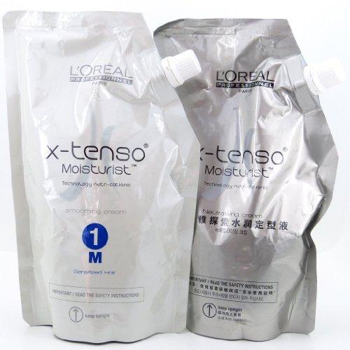 L'Oreal Paris X-tenso Moisturist Hair Straightener Set for Sensitized Hair 400+400 Milliliter