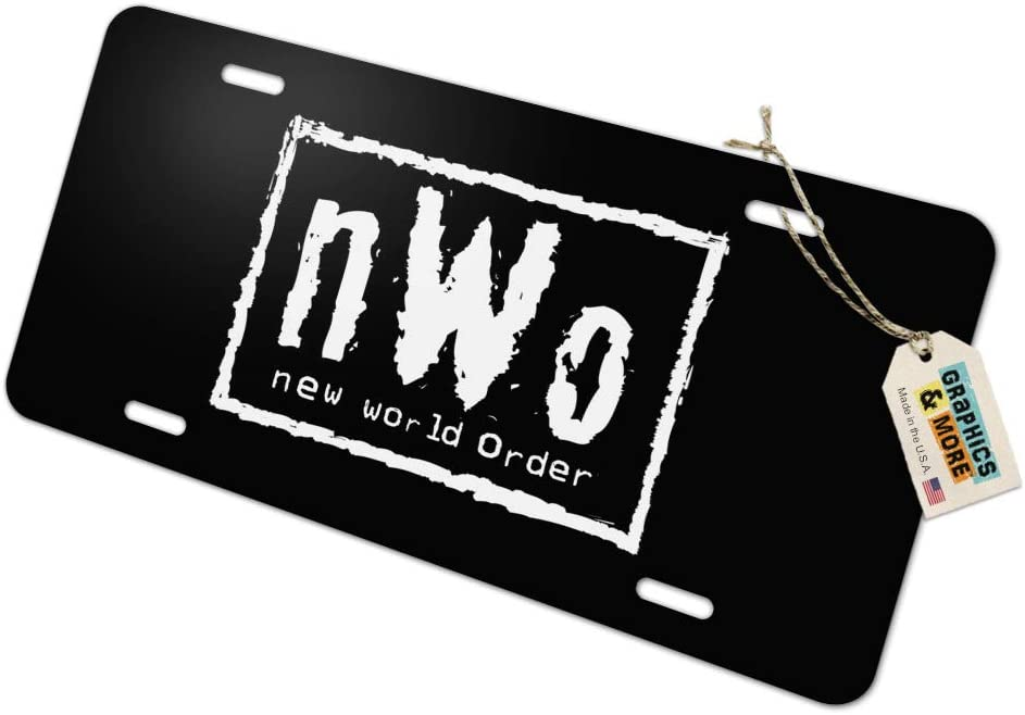 Graphics and More WWE Now Logo Novelty Metal Vanity Tag License Plate