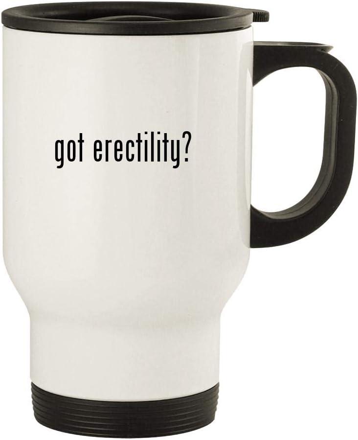 got erectility? - 14oz Stainless Steel Travel Mug, White