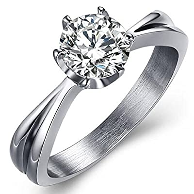 Classical Solitaire Ring 2.0 Carat Stainless Steel