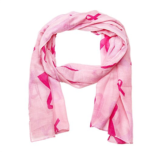 Falari Women's Pink Ribbon Breast Cancer Symbol Scarf (Pink Scarf) IF0033-P for $<!--$8.99-->