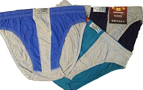3 er Pack Herrenslip, Herrenschlüpfer, Unterhosen, grau/blau/grün/schwarz melange Töne, Art.520, -ÖKO Tex Standard 100, Textiles Vertrauen- (11, grau/blau/grün melange Töne ), !!!!AUCH GROSSE GRÖSSEN ERHÄLTLICH!!!!!
