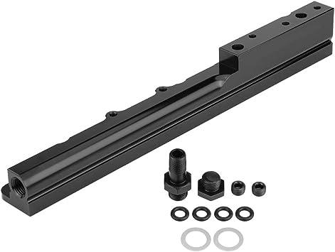 Acouto Car High Flow Fuel Rail Kit for Honda Acura B16 B18 B20 LS GSR Integra 25-100BK