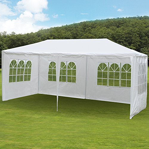 Side Party Tent Pole Frame (Yaheetech 10 x 20ft Waterproof Party Wedding Tent with 4 Removable Sidewalls Fists for 30)
