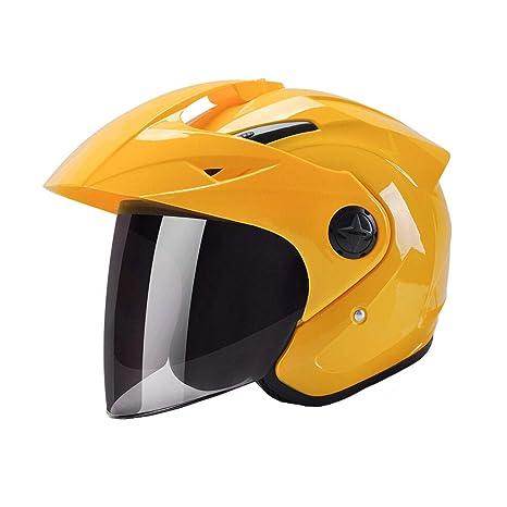 ZH Half helmet Casco de motocicleta para hombre, protección solar para el sol, lluvia
