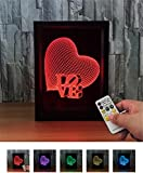 L&T STAR New Santa Claus 3D Photo Frame Lights Night Light Colorful Touch Remote Creative Products Led Lights