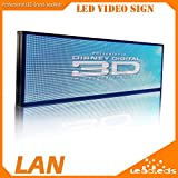 Leadleds 39 X 14 Inches Full Color Indoor LED Video Display Screen Led Message Sign Programmable, 3-in-1 Led, Clearly Display Video / Music(voice), Fast Program By LAN