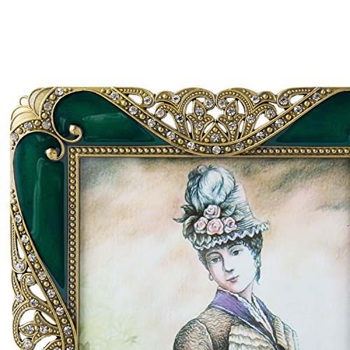 Real Clear Glass Front Cover Vintage European Retro Style WorldWide Selection Home Tabletop Horizontally or Vertically Bronze Patina Plated 8 x 10 inch Metal Photo Frame//Picture Frame