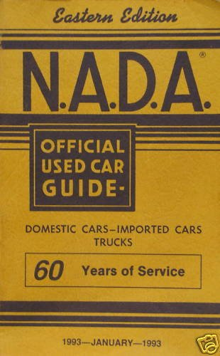 Eastern Used Cars (NADA Used Car Guide - Eastern Edition - January, 1993)
