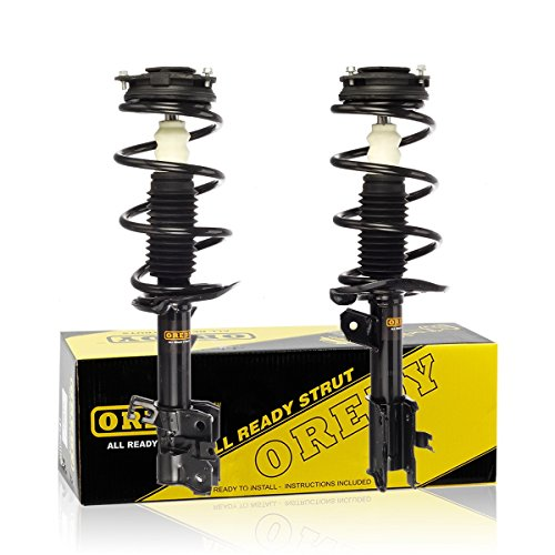 OREDY Front Left & Right 2 Pieces Complete Shock Strut Coil Springs Assembly Kit 172609 172608 11733 11734 1333271L 1333271R Compatible with 2008 2009 2010 2011 Rogue
