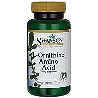 Swanson L-Ornithine Amino Acid (500mg, 60 Vegetarian Capsules)