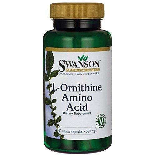 Swanson L-Ornithine Amino Acid 500 mg 60 Veg Caps