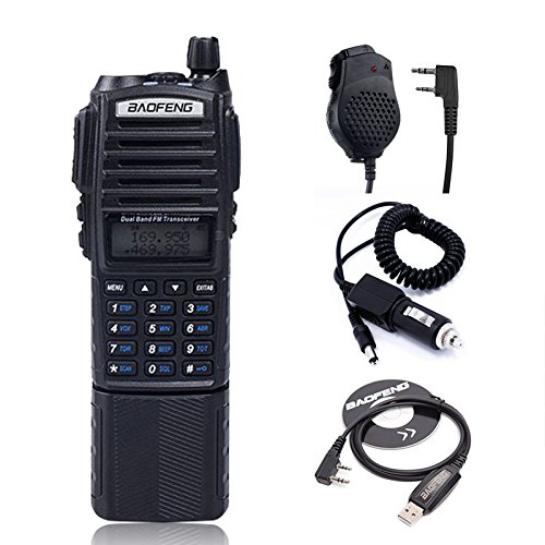 Baofeng UV-82 8W High Power 3800mAh Extended Battery Two Way Radio Dual Band Radio 136-174mhz&400-520mhz + 1 USB Programming Cable + 1 Car Charger Cable + 1 Speaker by BaoFeng (Image #9)
