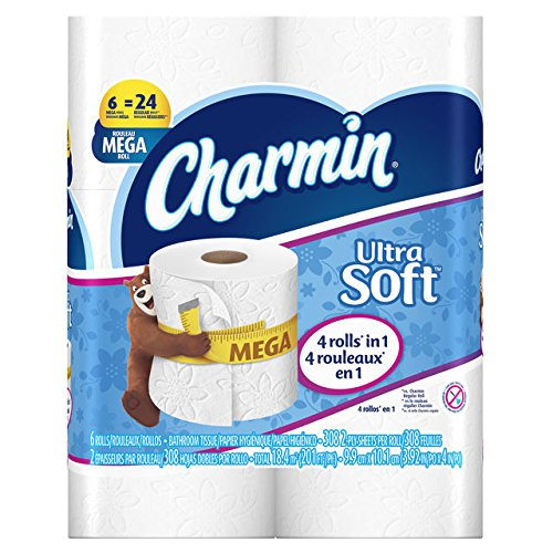 Charmin Ultra Soft Toilet Paper, Bath Tissue, Mega Roll, 6 C