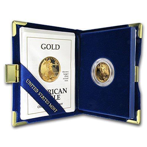 1991 P 1/4 oz Proof Gold American Eagle (w/Box & COA) (1/4) Brilliant (1/4 Oz Proof)