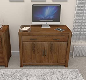 Grand Solid Walnut Furniture Hidden Home Office Desk Computer Table Study Am