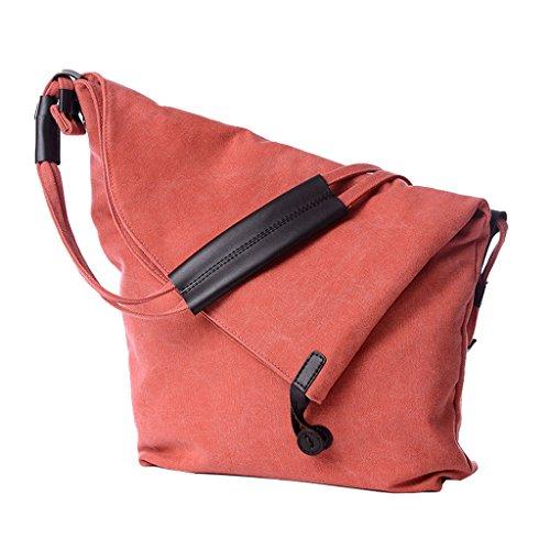 Bolsa de lona Super Modern de estilo hobo, ideal para usar como bolsa cruzada o de hombro, mujer, gris naranja