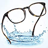 LifeArt Blue Light Blocking Glasses,Computer Reading Glasses,Transparent Lens,Reduce Headaches&Eyestrain,Stylish for Women/Men
