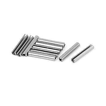 M1.5x20mm 304 Stainless Steel Split Spring Roll Dowel Pins Fasteners 10Pcs