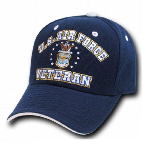 Rapid Dom Veteran US Military Branch Logo Baseball Caps VET2 Air (Air Force Logo Cap)