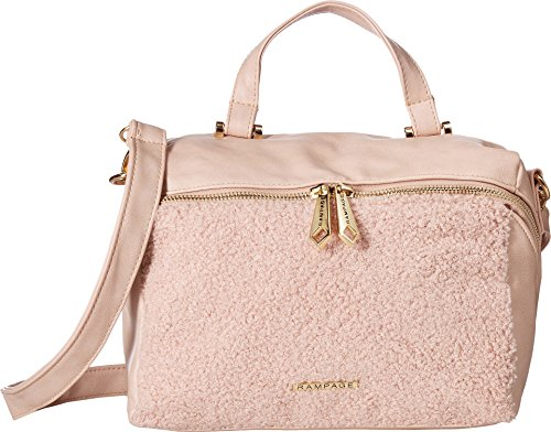 Rampage Shearling Faux Blush Crossbody Womens wY1YHqxrR