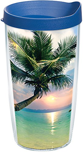 Tervis 1269325 Sunset in Paradise Tumbler with Wrap and Blue Lid 16oz, ()