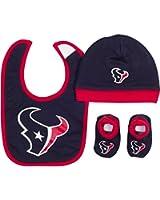 Gerber Baby Boys Houston Texans Hat/cap,bootie and Bib Set
