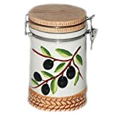 Olive Canister 14.7x11.5x18.2cm, Case of 16