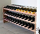 Creekside 36 Bottle Long Scalloped Wine Rack (Redwood) by Creekside - Easily stack multiple units - hardware and assembly free. Hand-sanded to perfection!, Redwood
