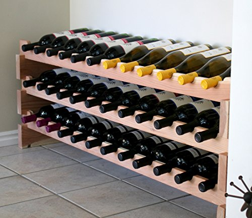 Creekside 36 Bottle Long Scalloped Wine Rack (Redwood) by Creekside - Easily stack multiple units - hardware and assembly free. Hand-sanded to perfection!, Redwood (Rack Scalloped Wine)