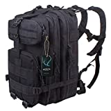 G4Free® 40L Sport Outdoor Military Rucksacks Tactical Molle Backpack Camping Hiking Trekking Bag Custom Design By G4Garden (Black, 40L)