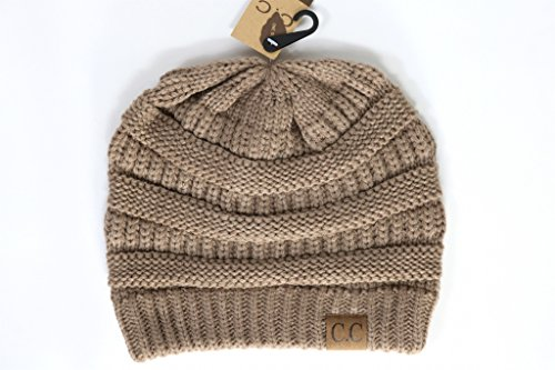 Crane Clothing Co. Women's Classic CC Beanies One Size Taupe