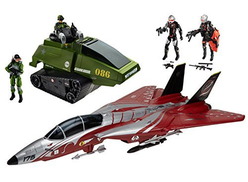 G.I. Joe 50th Anniversary Crimson Strike Set with Cobra Scythe & GI Joe Chimera & 4 Action Figures (2015 SDCC Comic-Con ()