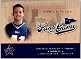 2004 Leaf Rookies and Stars Fans of the Game #FG3 Damien Fahey MTV NEW ENGLAND PATRIOTS