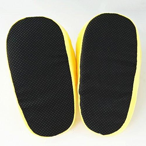 Zapatos emoji linda del invierno de los deslizadores cálido y acogedor felpa suave cubierta Inicio zapatillas unisex adulta del Reino EUROPA (35-43) Eye color