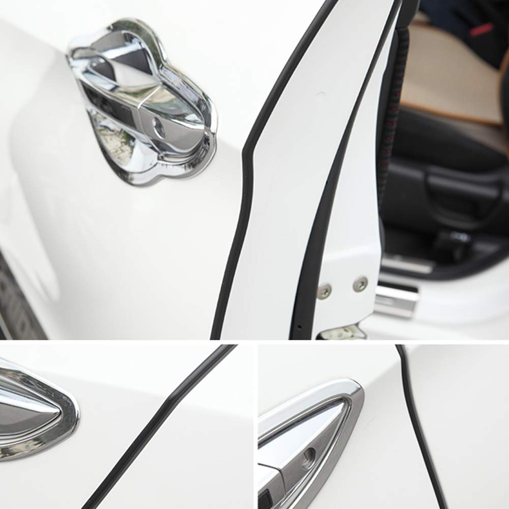 Trim Rubber Seal Protector Guard Strip Car Lining Protection 16Feet OSOPOLA Car Door Edge Guards Clear 5m Edges of Vehicle Lids Hoods Doors and Grilles