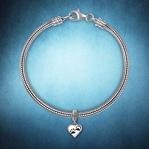 925 Sterling Silver Mom Daughter Heart Love Clover Dangle Charms Bead for European Snake Chain Bracelets