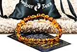 Baltic Amber Bracelet for Adults made on Elastic Band – Carpal Tunnel, Arthritis, Headache, Migraine Pain Relief - 7.5 Inches