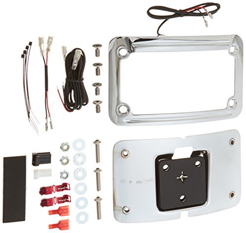 Kuryakyn 9255 LED Lighted Curved License Plate Frame (Kuryakyn Plate Frame Curved License)
