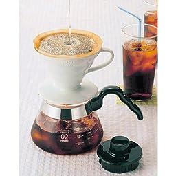 Hario V60 Ceramic Coffee Dripper (Size 01, White)
