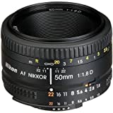 Nikon AF FX NIKKOR 50mm f/1.8D Lens with Auto Focus for Nikon DSLR Cameras (Certified Refurbished)