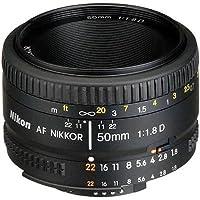 Nikon AF FX NIKKOR 50mm f/1.8D Lens with Auto Focus for Nikon DSLR Cameras (Certified Refurbished)