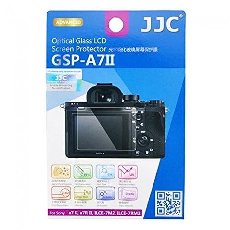JJC - Protector de Pantalla LCD, de Cristal óptico, GSP-A7II, para Cámara Sony A7II/A7RII/ILCE-7 M2/7RM2 - Transparente: Amazon.es: Electrónica