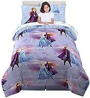 Franco Kids Bedding Super Soft Comforter and Sheet Set with Bonus Sham, 5 Piece Twin Size, Disney Frozen 2