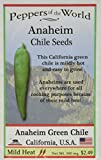Heirloom Anaheim Green Chile Seeds - 30 - Mild Heat - Easy to Gow