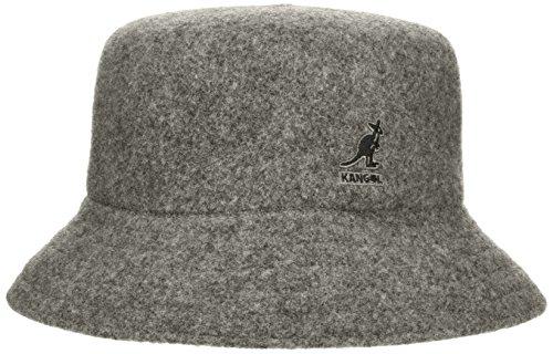 Kangol Dark Flannel - Kangol Men's Wool Lahinch Bucket Hat, Flannel, XL