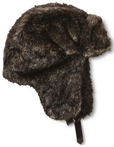 Fur Quilted Hat (Masked Brand Mossimo Men's Faux Fur Trapper Hat (Brown))