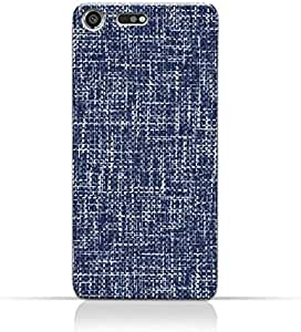AMC Design Sony Xperia XZ Premium TPU Silicone Case with Brushed Chambray Pattern