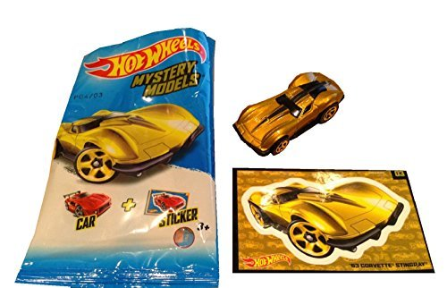 2015 Hot Wheels Mystery Models #03 '63 Corvette Stingray Chase Vehicle in Gold Spectraflame